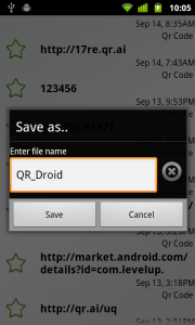QR Droid Zapper | Export your QR Droid History to Excel